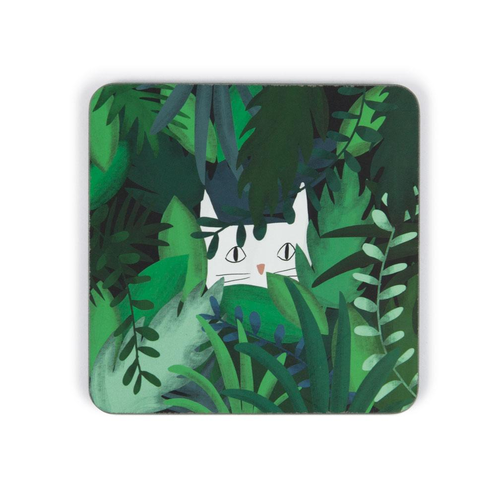 'Jungle Cat' Coaster by Jasmine Hortop