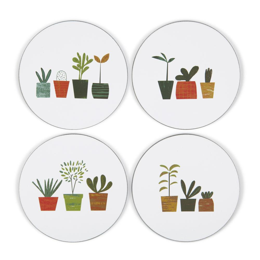 'Little Plants' Coaster Set