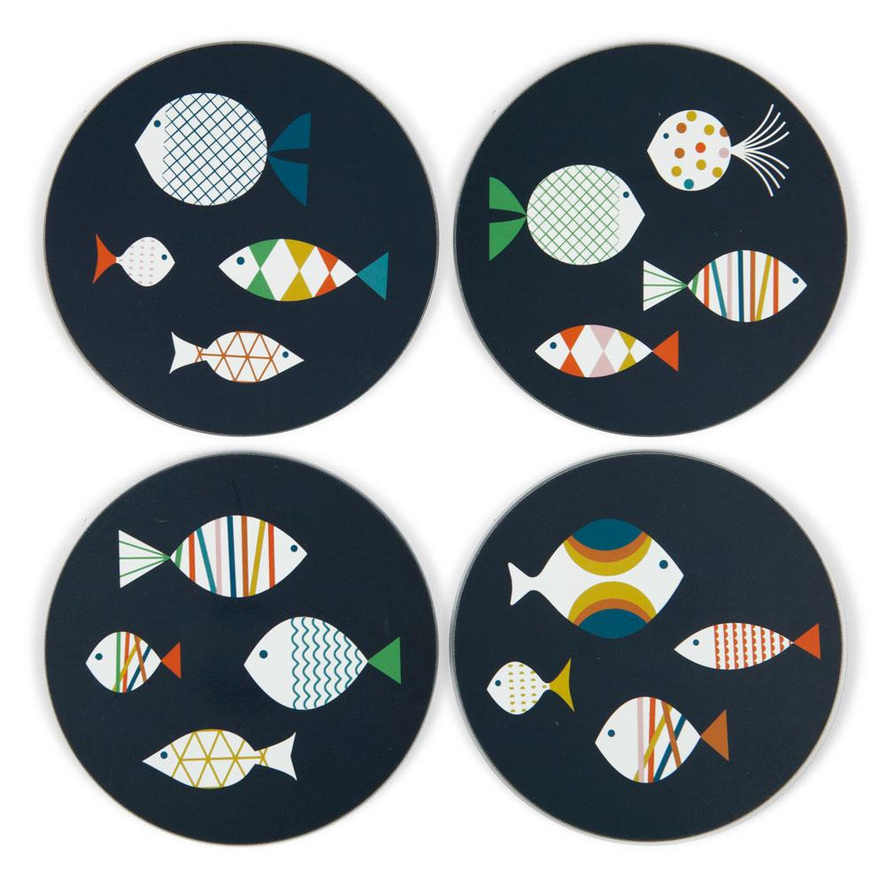 'Fish' Coaster Set by Blanca Gomez