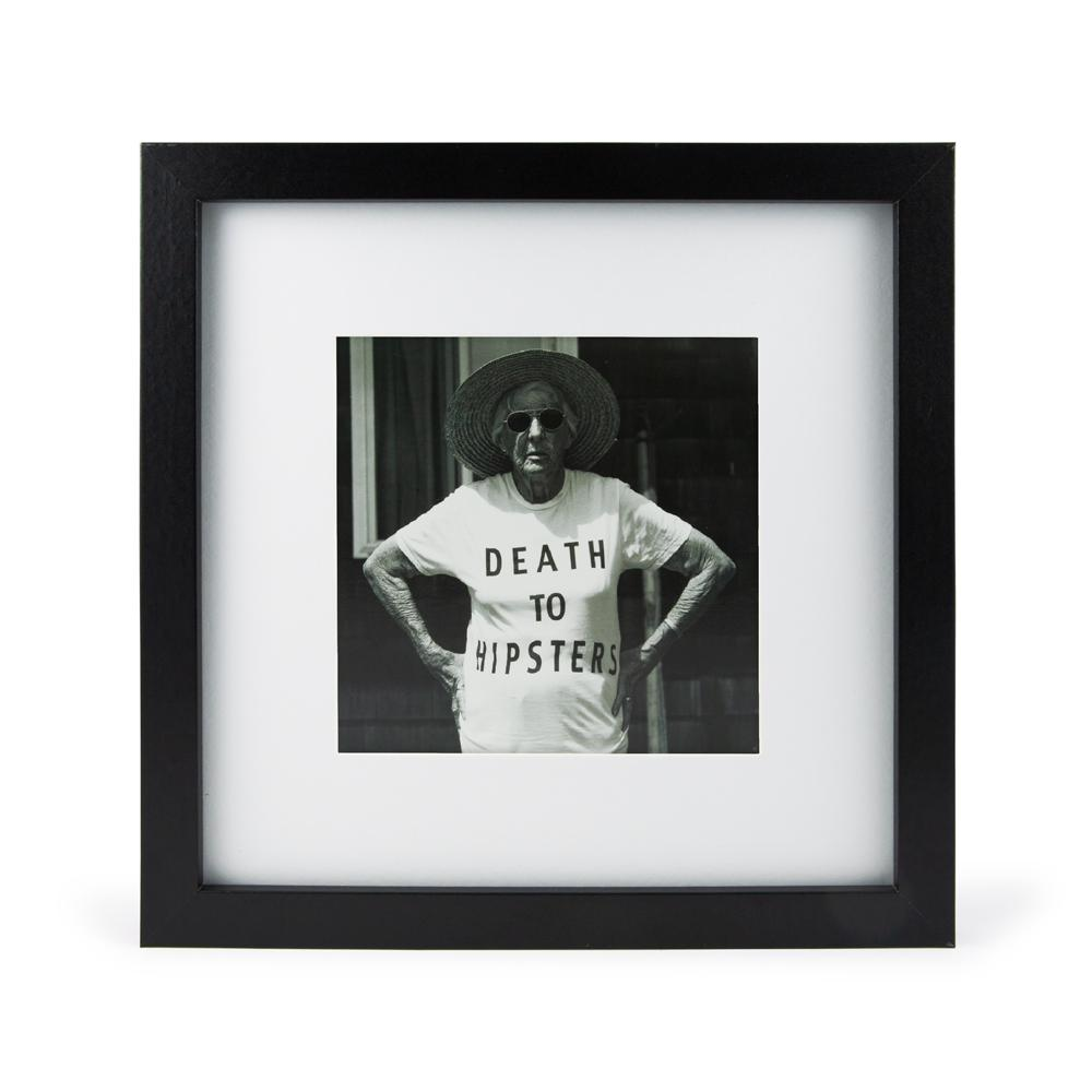 'Death To Hipsters' Mini Print