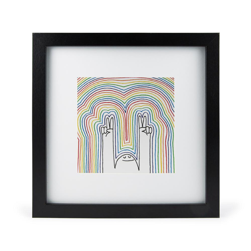 'Peace Love + Rainbows' Mini Print