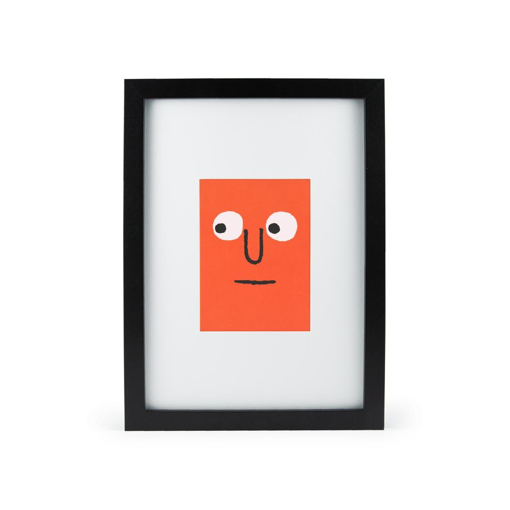 'Orange Face' Mini Print