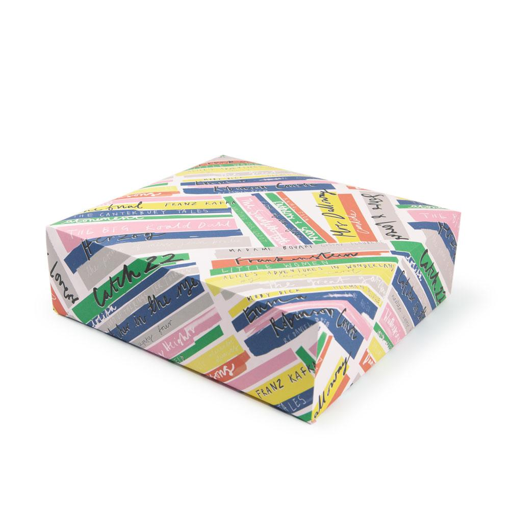 'Book Stack' Gift Wrap