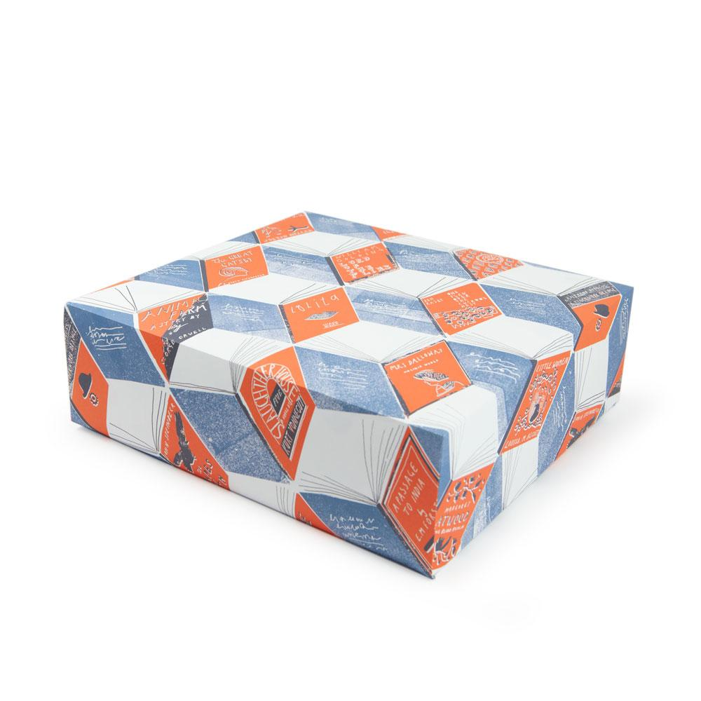 'Isometric Books' Gift Wrap
