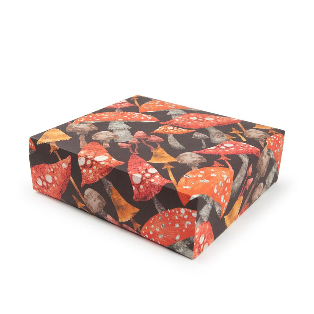 'Toadstools' Gift Wrap by Emily Nash