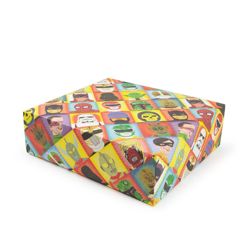 'Heroes And Villains' Gift Wrap