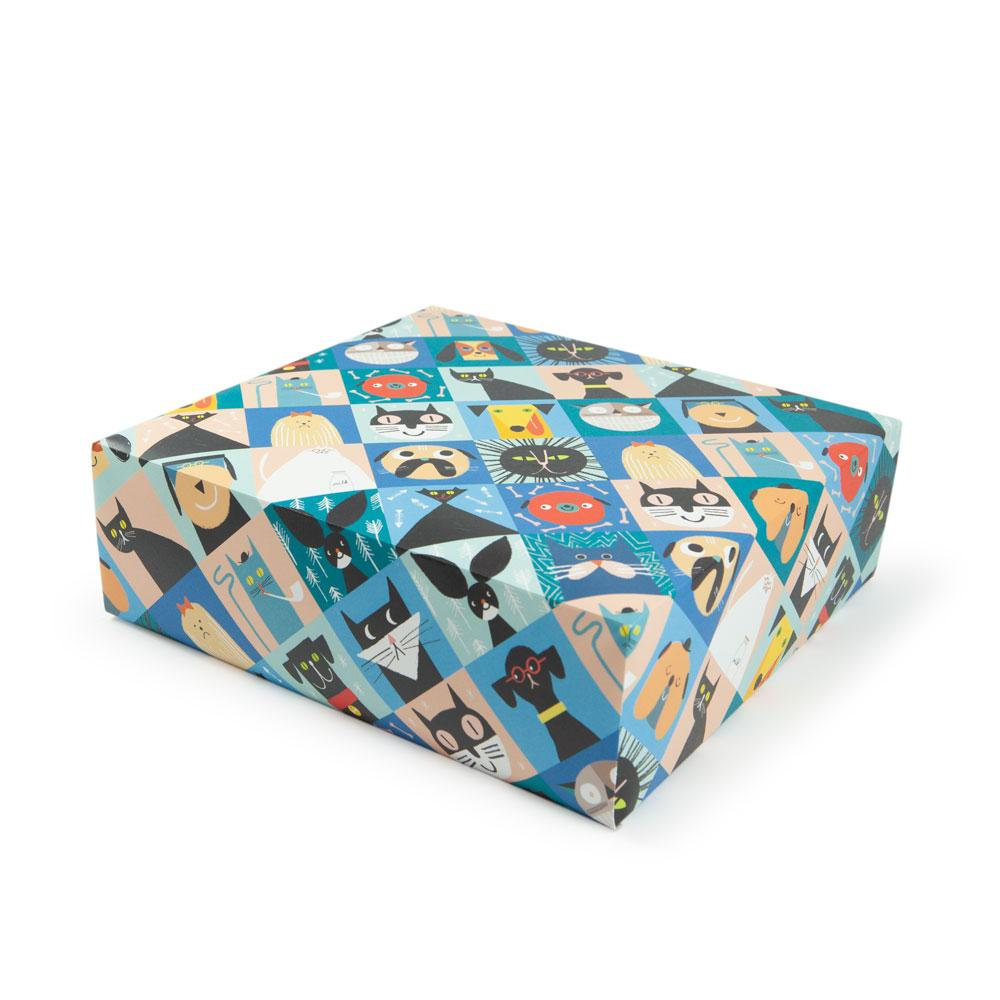 'Cats and Dogs' Gift Wrap by Rob Hodgson