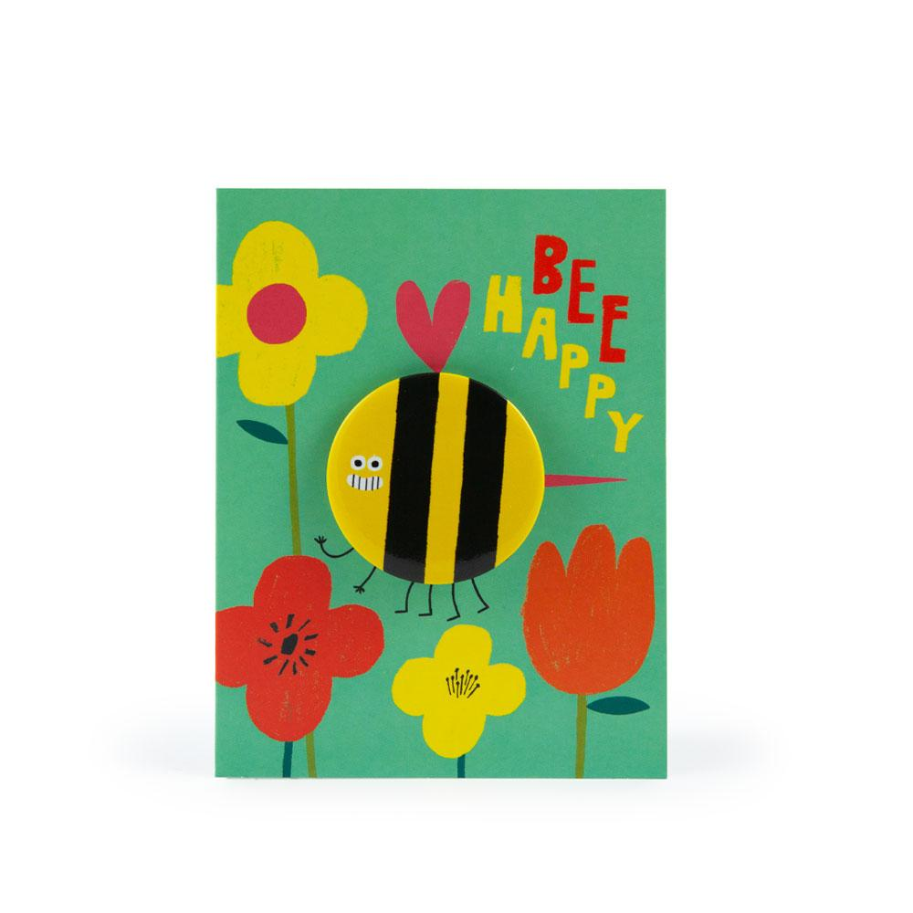 'Bee' Badge Card by Rob Hodgson