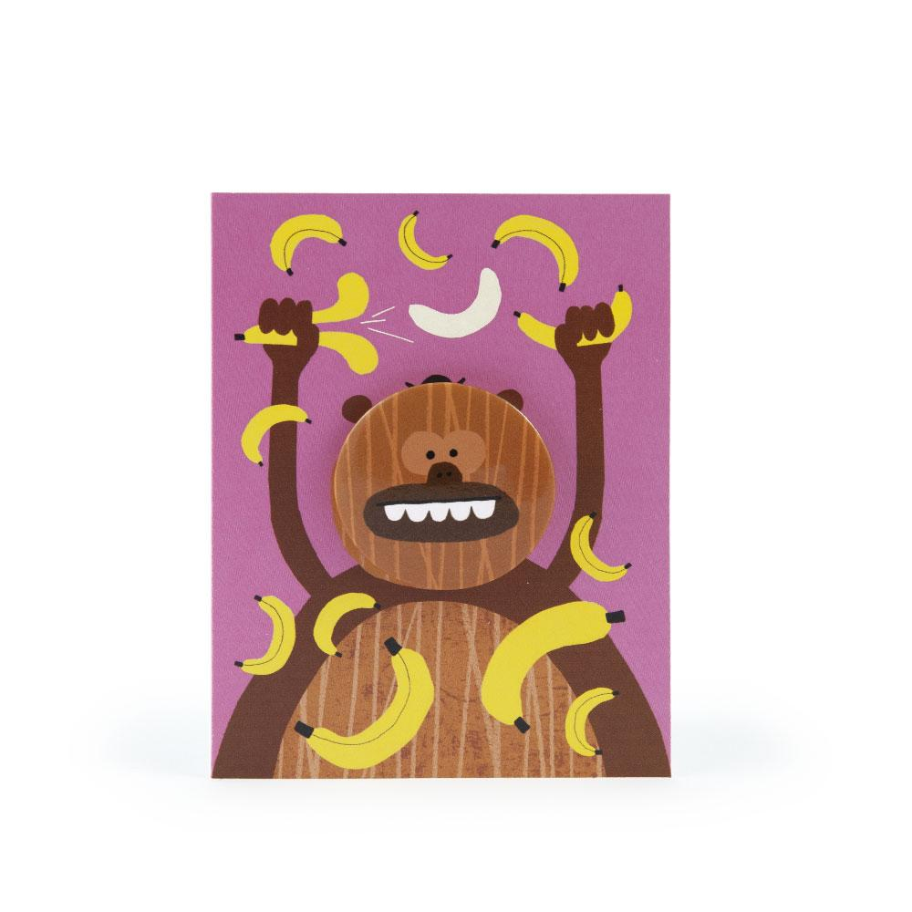 'Monkey' Badge Card by Rob Hodgson