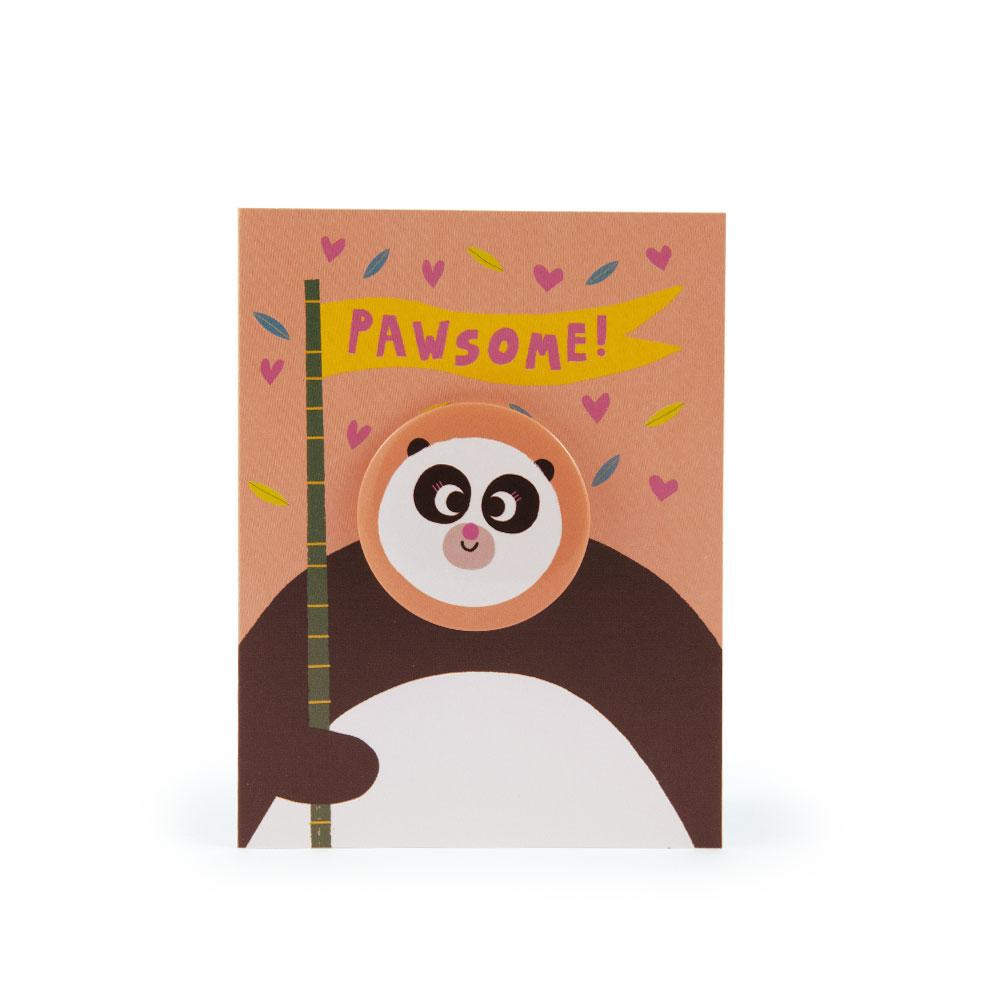 'Panda' Badge Card by Rob Hodgson