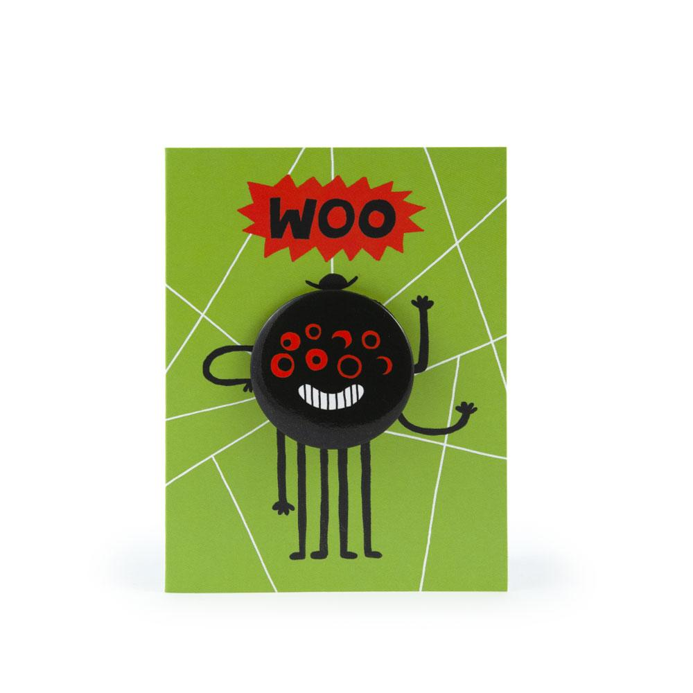 'Spider' Badge Card by Rob Hodgson