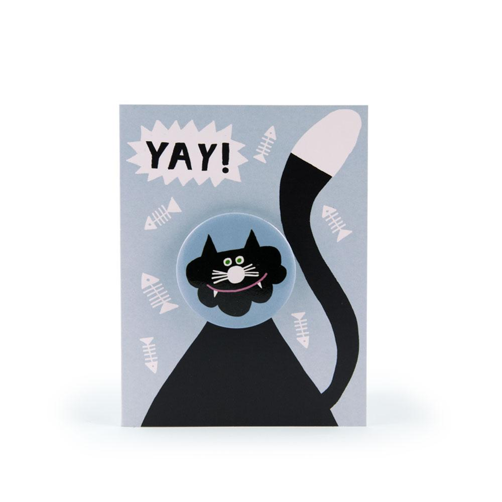'Cat' Badge Card by Rob Hodgson