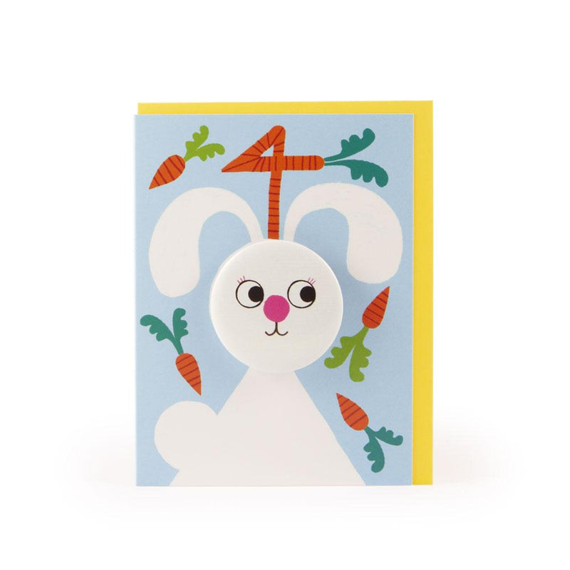 'Rabbit' Age 4 Badge Card by Rob Hodgson