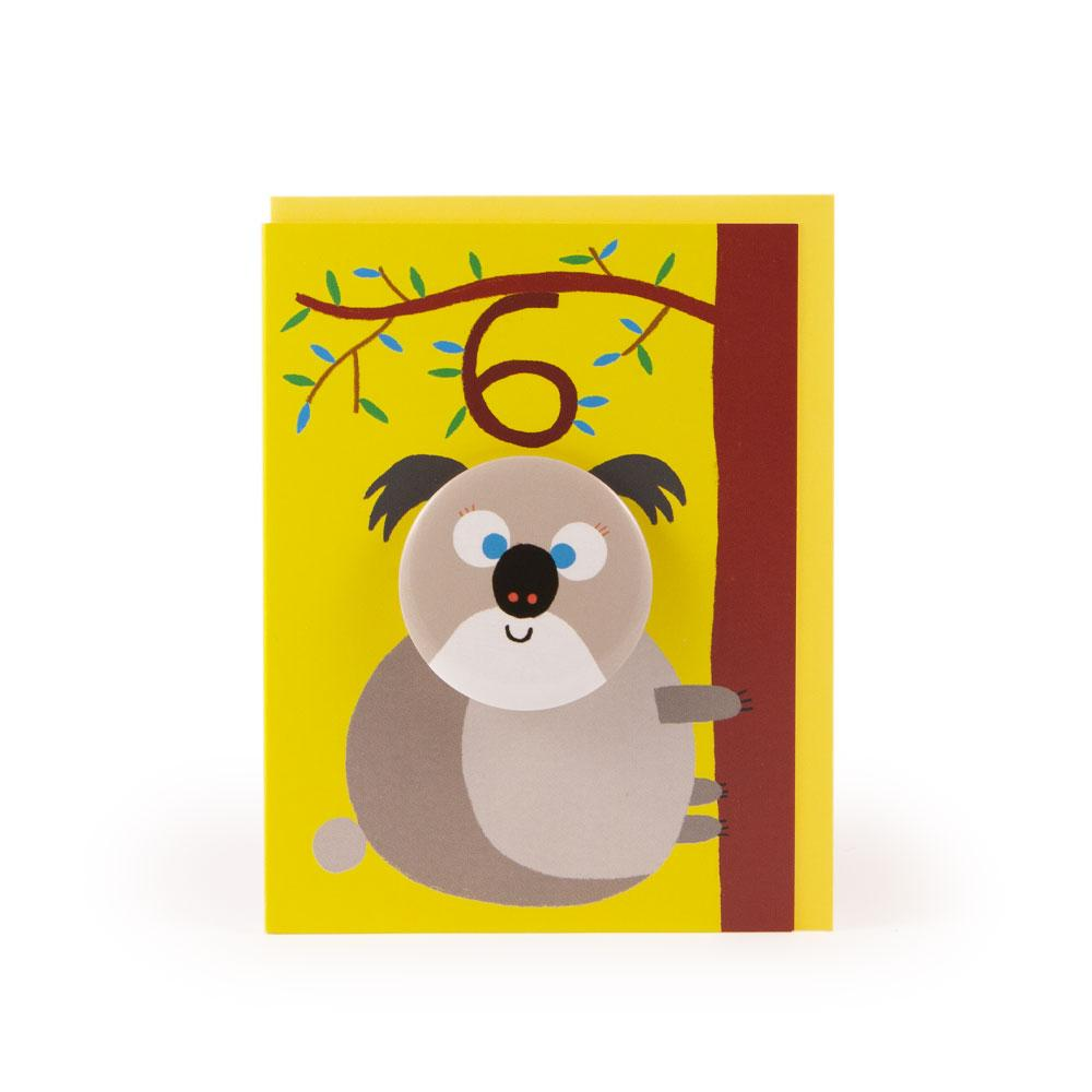 'Koala' Age 6 Badge Card by Rob Hodgson