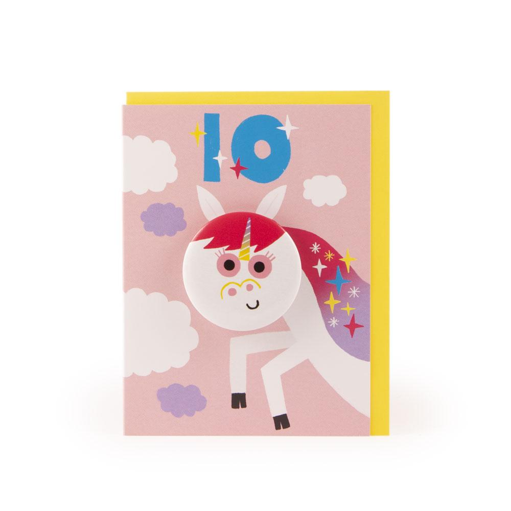 'Unicorn' Age 10 Badge Card by Rob Hodgson