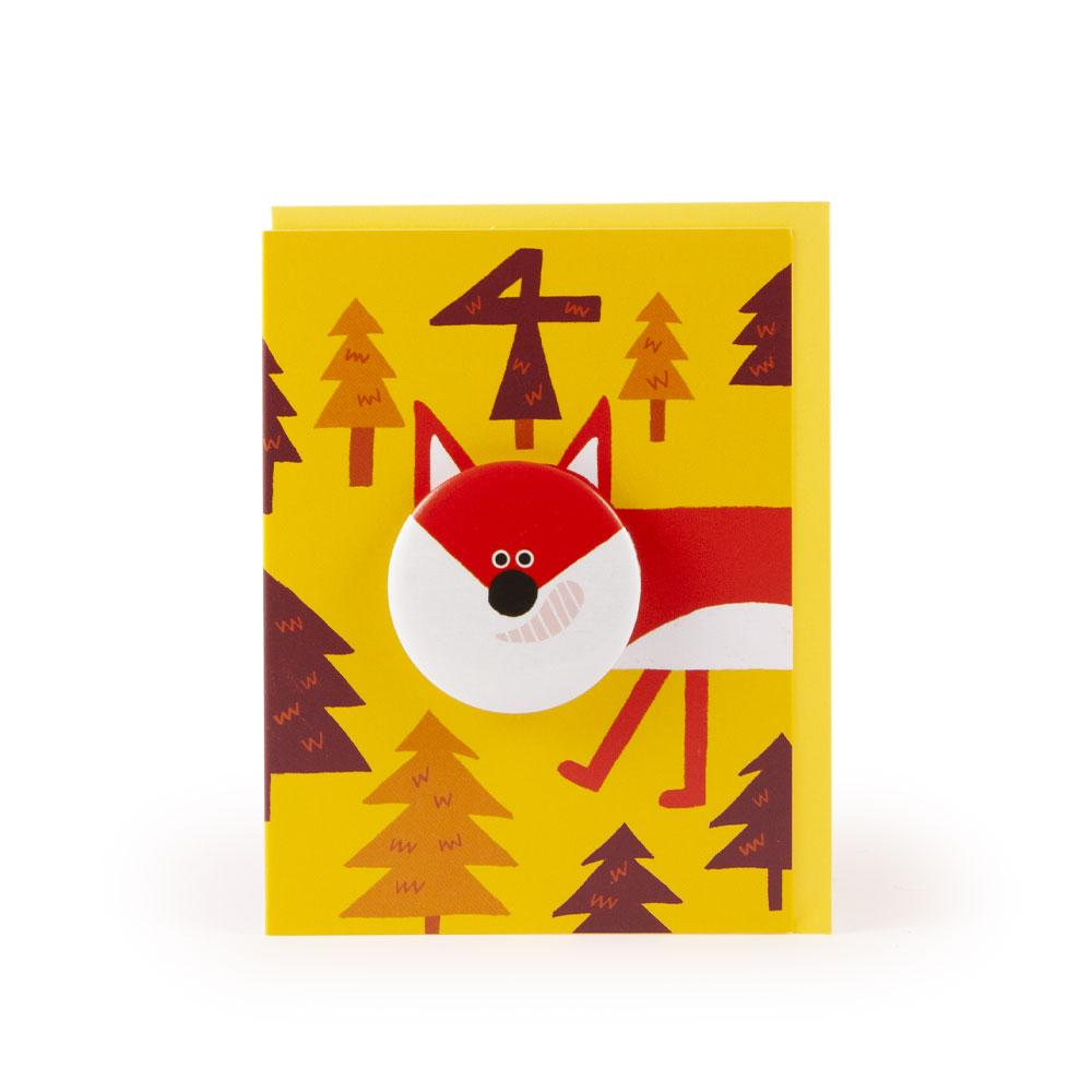 'Fox' Age 4 Badge Card by Rob Hodgson