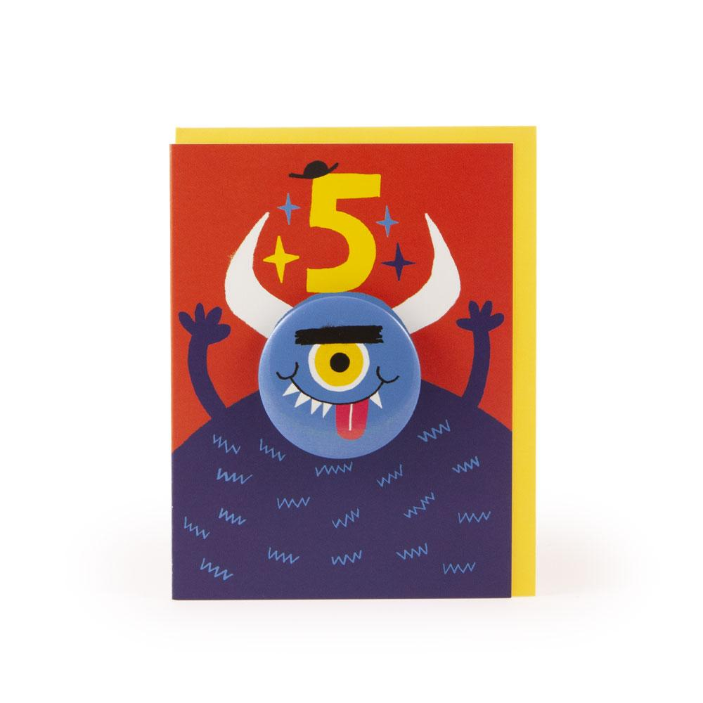 'Monster' Age 5 Badge Card by Rob Hodgson