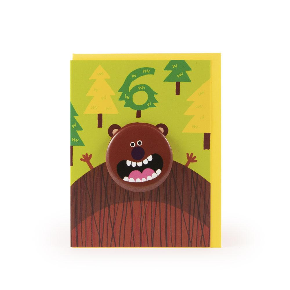 'Bear' Age 6 Badge Card