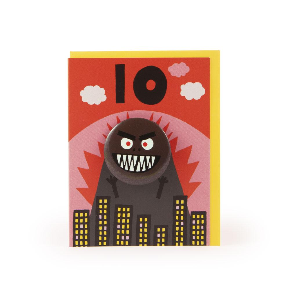 'Godzilla' Age 10 Badge Card by Rob Hodgson
