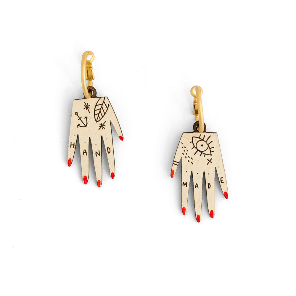 'Hand Made' Earrings