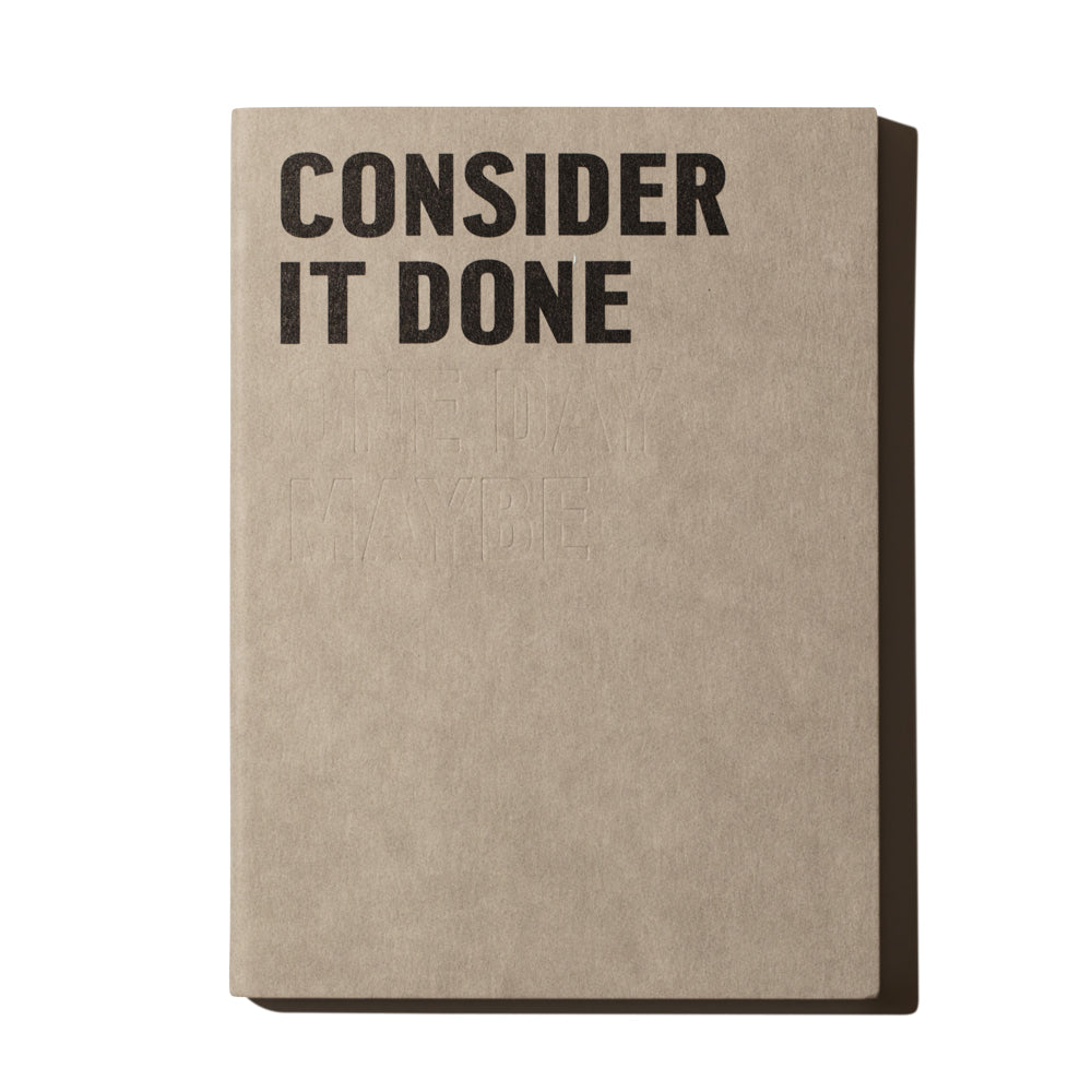 'Consider It Done' Notebook