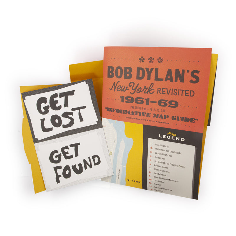 'Bob Dylan's New York Revisited' Map & Postcards