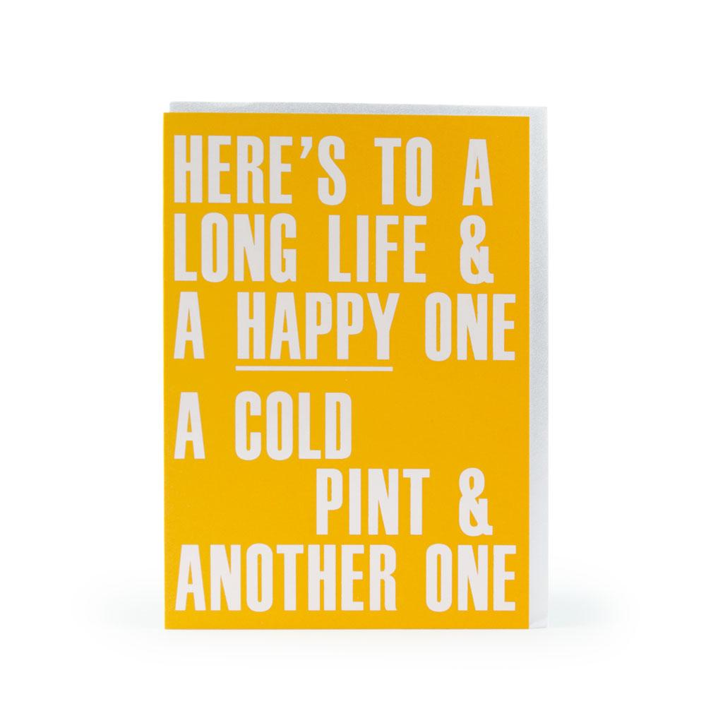 'Long Happy Life' Card by USTUDIO