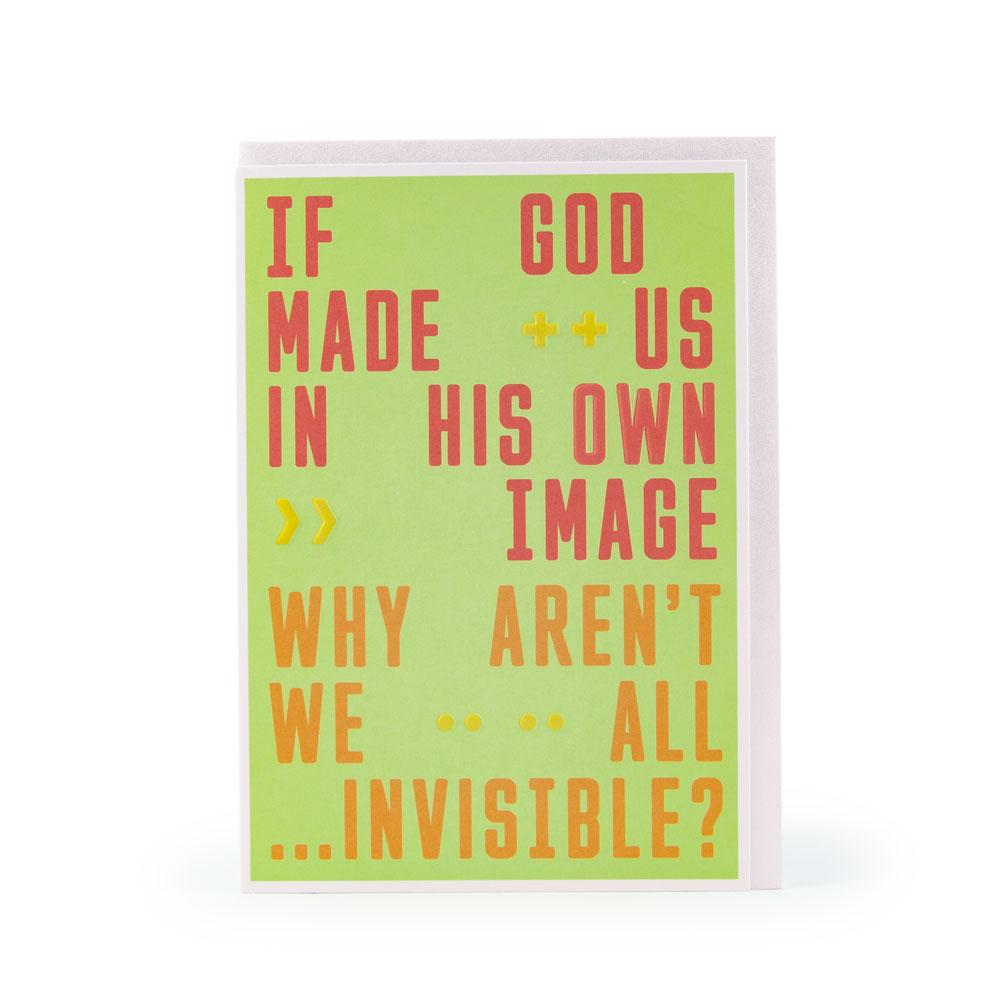 'All Invisible' Card by USTUDIO