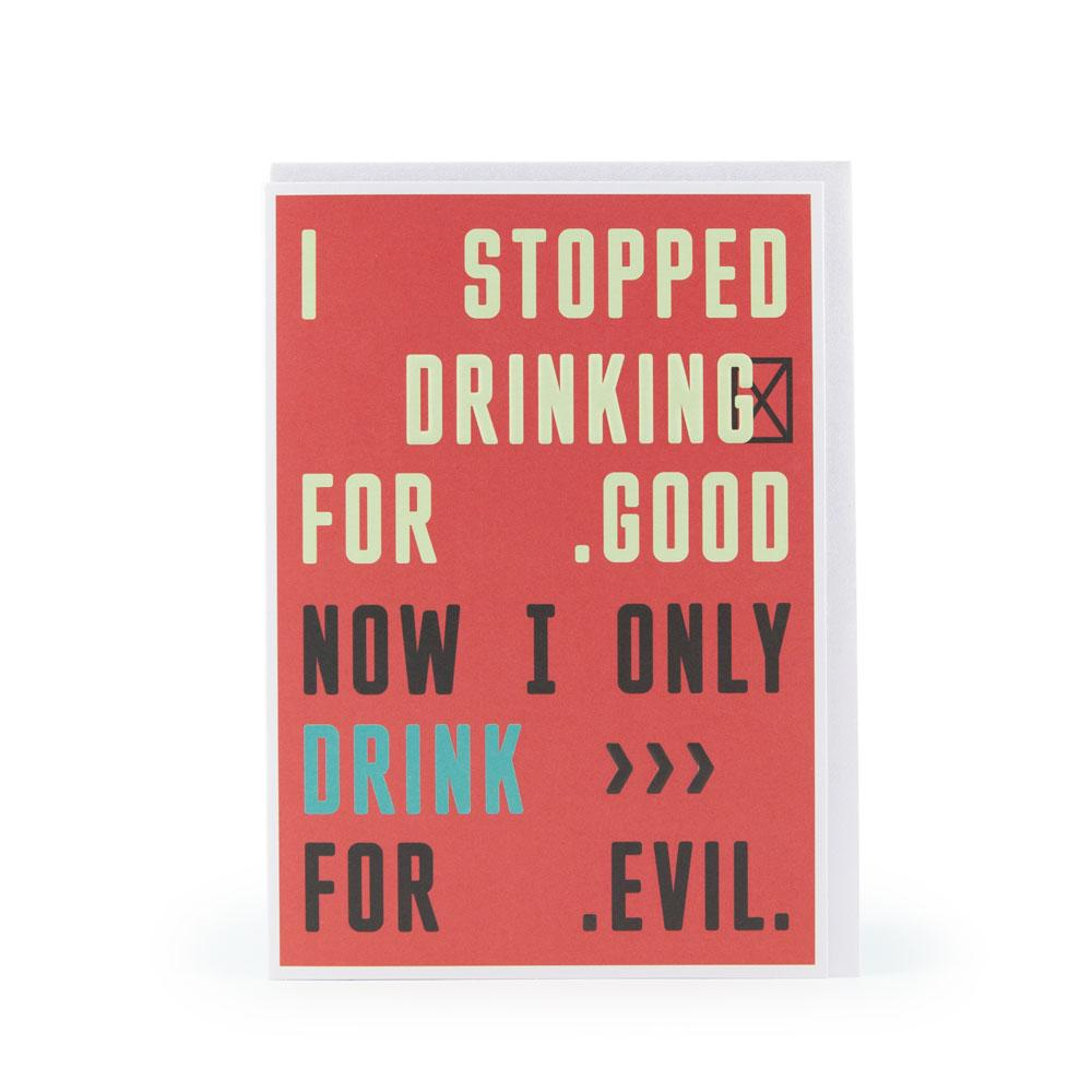'Drinking for Good' Card by USTUDIO