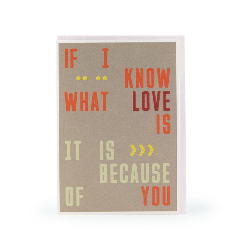 'If I know what Love is' Card