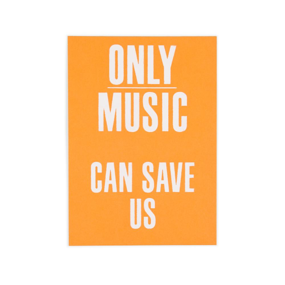 'Only Music' Postcard