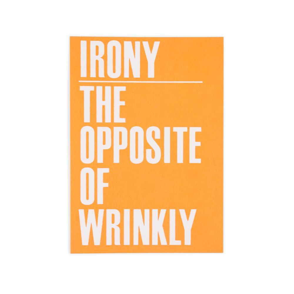 'Opposite of Wrinkly' Postcard