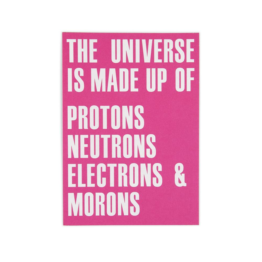 'Universe Is Made Up of' Card by USTUDIO