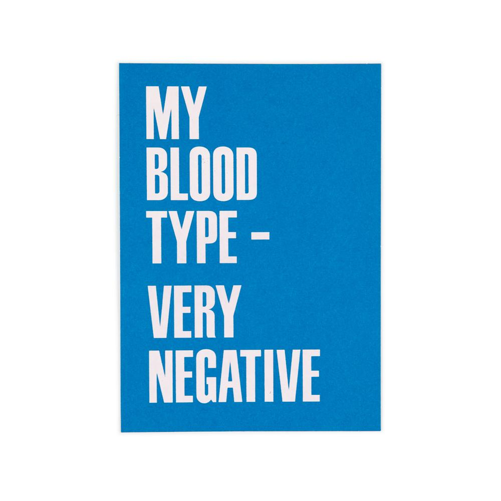 'Blood Type' Card by USTUDIO