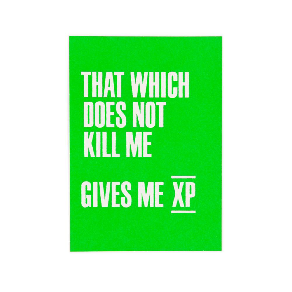 'That Which Doesn't Kill Me' Card by USTUDIO
