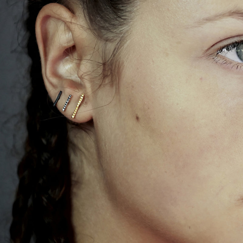 'Tribalism Rune Large' Stud Earrings