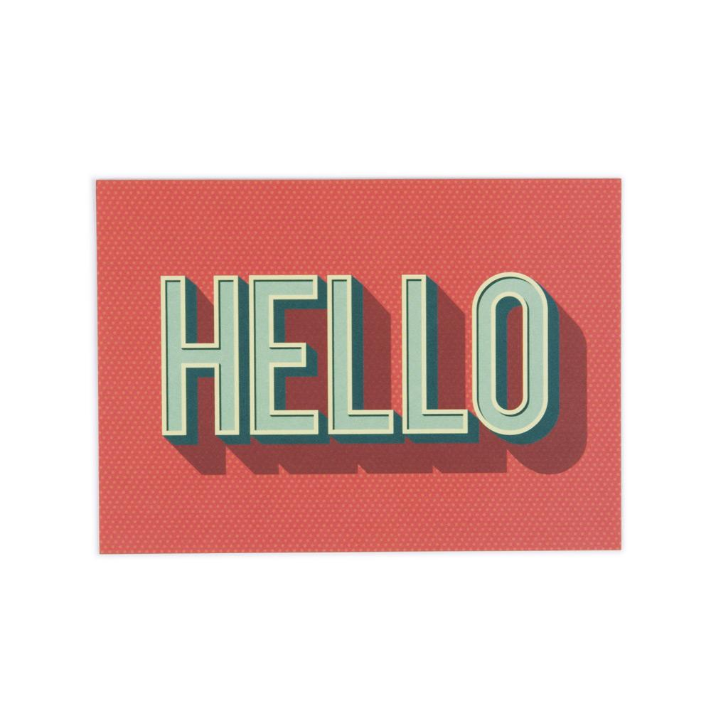 'Hello' Postcard by Lucinda Ireland