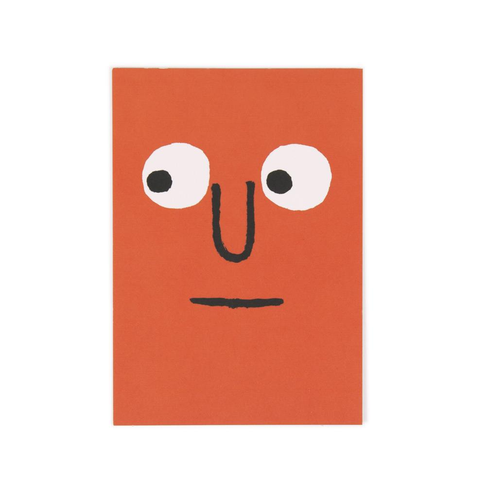 'Orange Face' Postcard by Jean Jullien