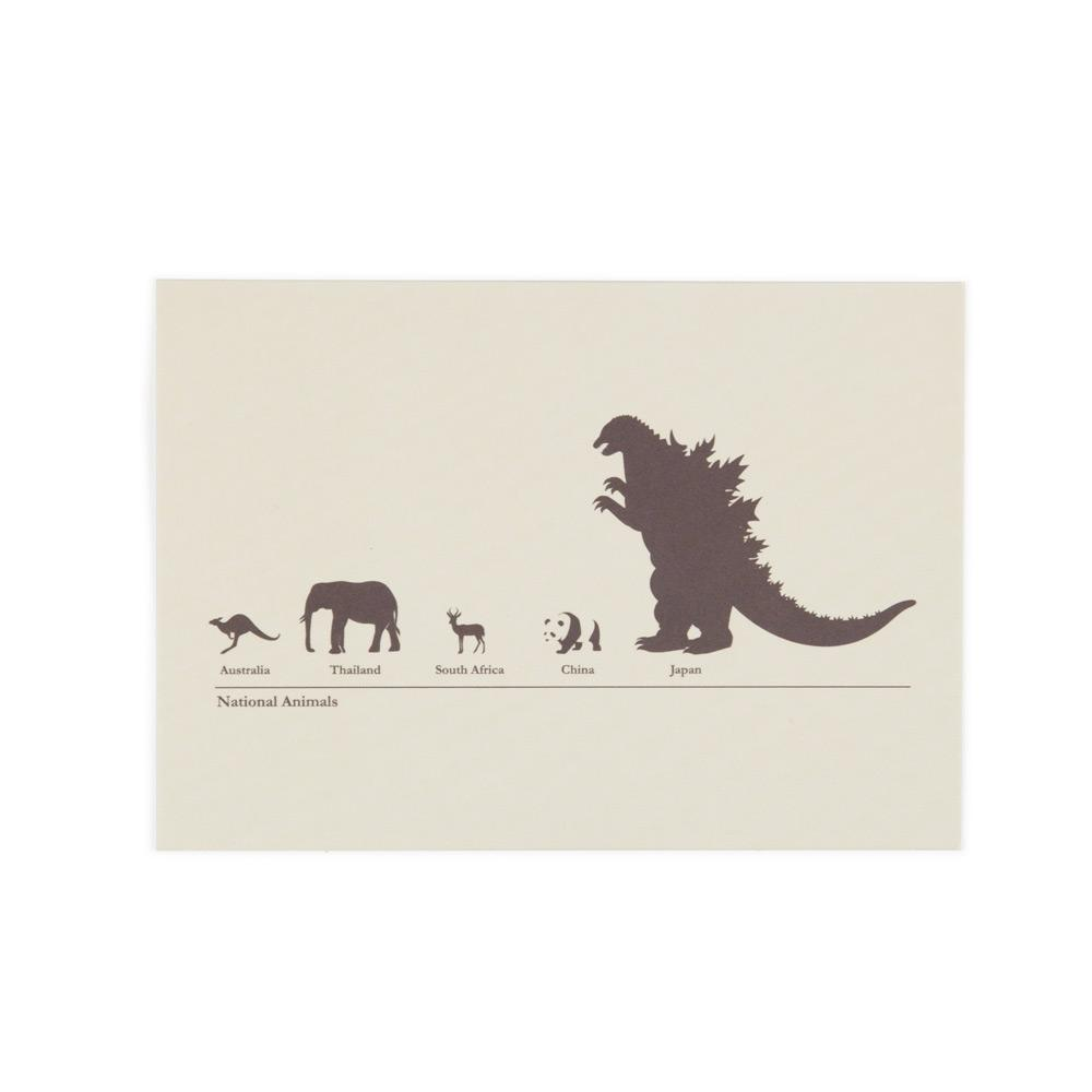 'National Animals' Postcard by Chow Hon Lam