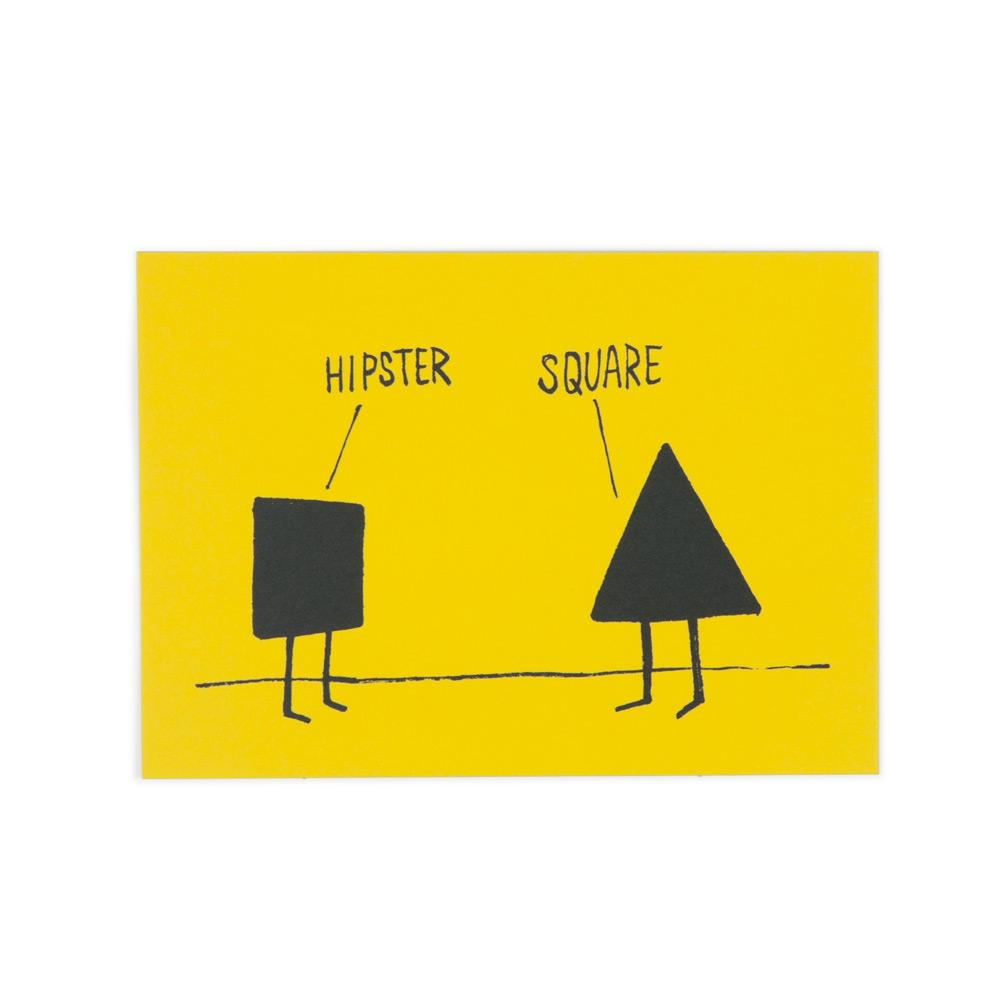 'Hipster/Square' Postcard by Christopher David Ryan