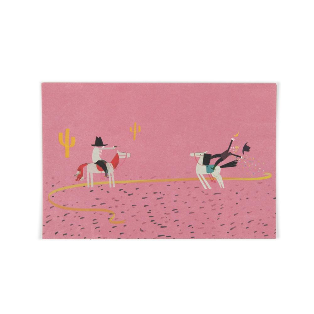 'Cowboys' Postcard by Yasmeen Ismail