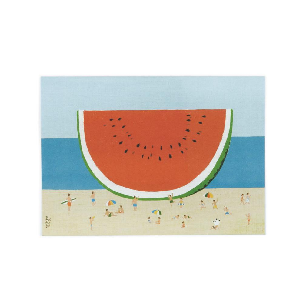 'Watermelon' Postcard by Takao Nakagawa