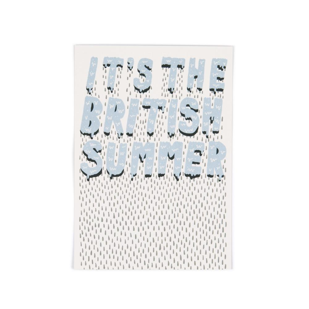 'British Summer' Postcard by Jenni Sparks