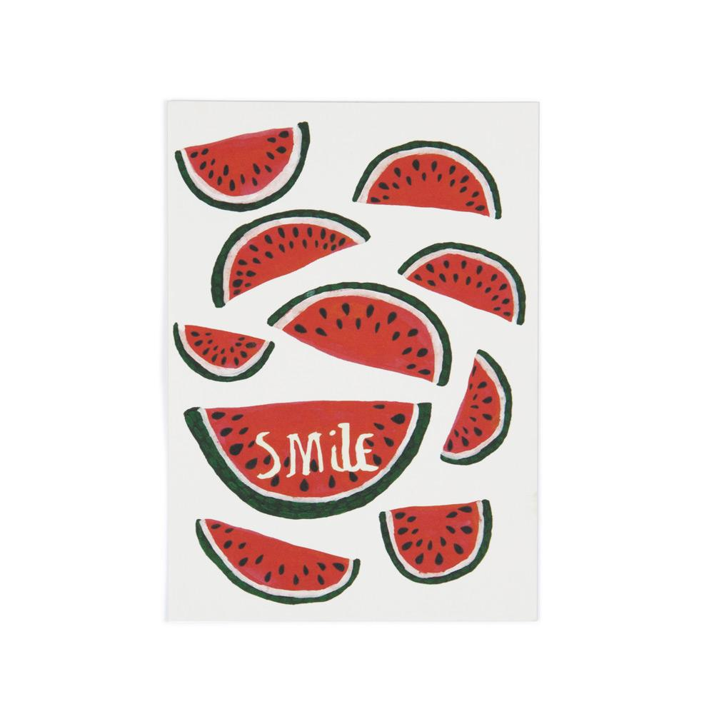 'Smile' Postcard by Ali Hunter
