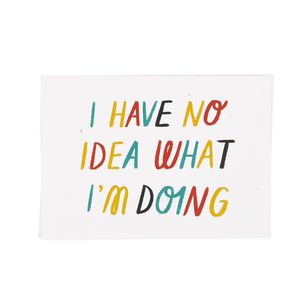 'No Idea' Postcard by Sarah Abbott