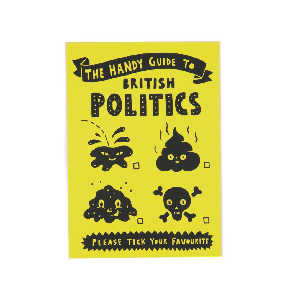 'British Politics' Postcard by Paul Bower