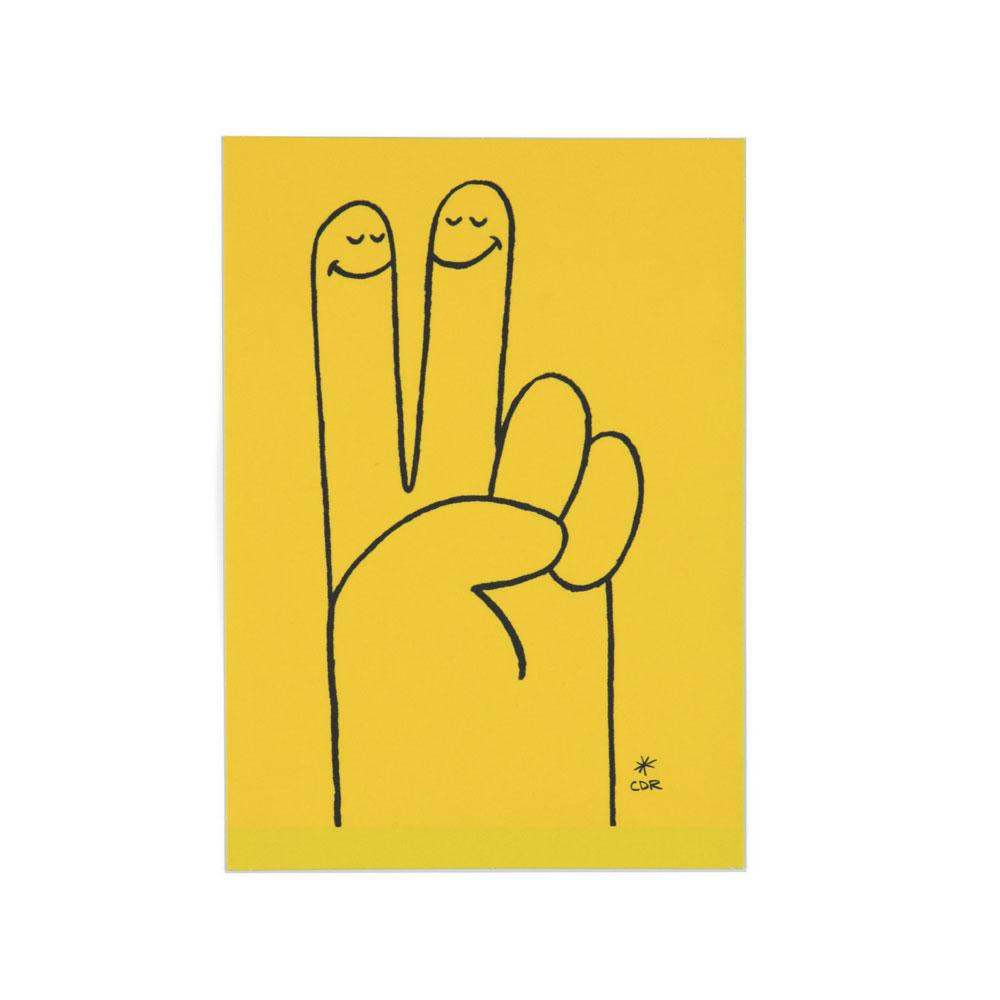 'Peace Hand' Postcard by Christopher David Ryan