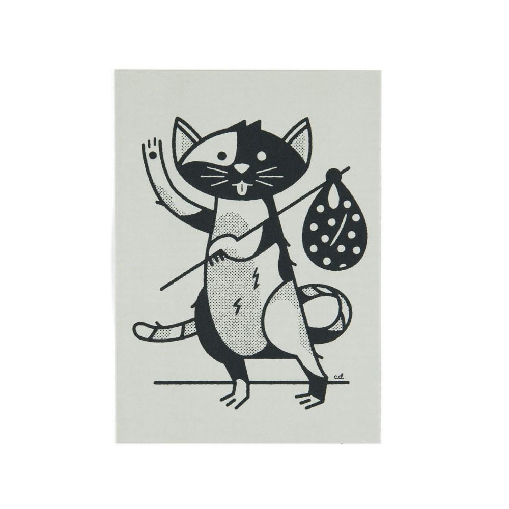 'Hobo Cat' Postcard by Christopher DeLorenzo