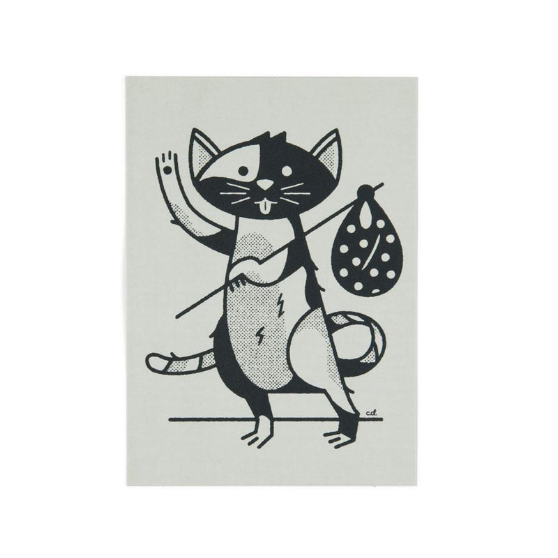 'Hobo Cat' Postcard