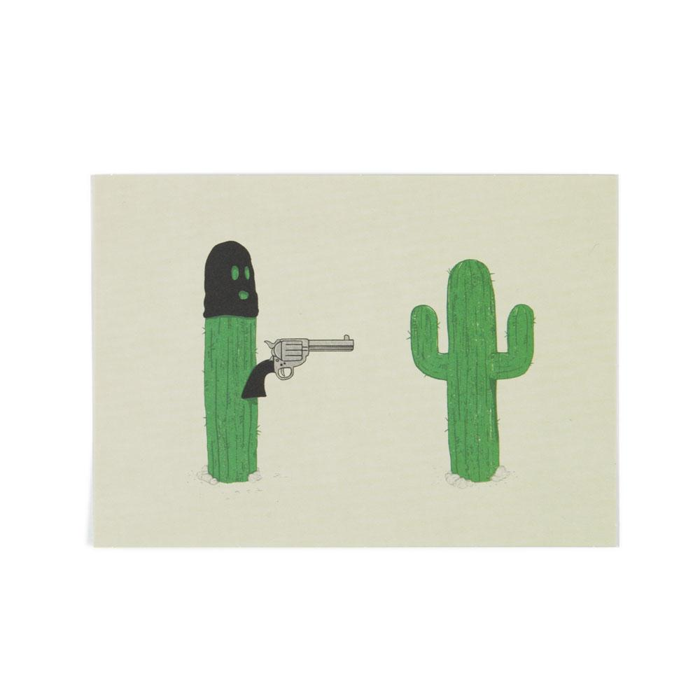 'Cactus Bandit' Postcard by Phil Jones